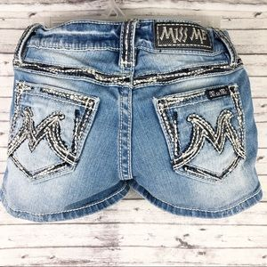 Miss Jeans Shorts Distressed Buckle M Series 26